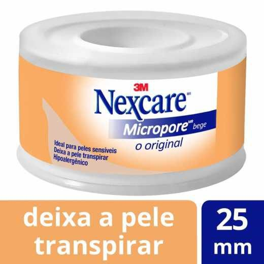 Fita Micropore Nexcare 3M Bege 25mmx4,5m