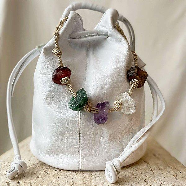 Sac Bag Cristais - Off White