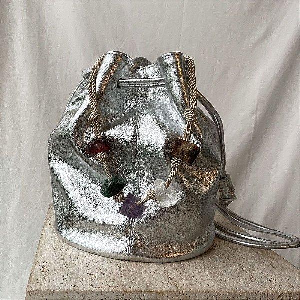Sac Bag Cristais - Silver
