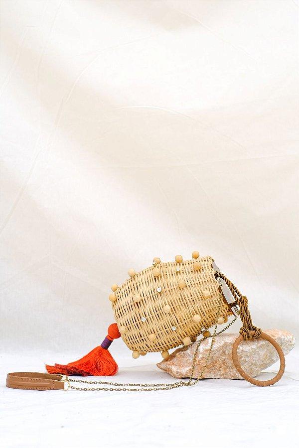 New Luli Wood Bag Terracota