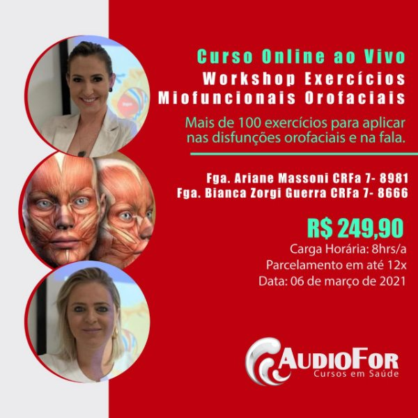 Workshop: Exercícios Miofuncionais Orofaciais