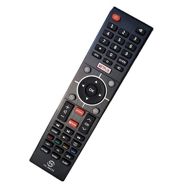 Controle Para Tv Toshiba Netflix Globoplay Youtube / Ct-6810 / L32s3900s / L39s3900fs / L43s3900fs