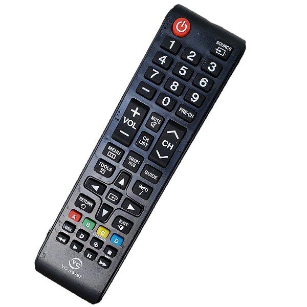 Controle Remoto Universal  Com Tecla Smart Hub Futebol Compativél com Diversos Modelos Tv Samsung Un40j5200 Un40j5200