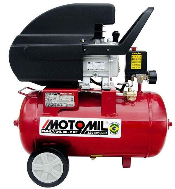 MOTOCOMPRESSOR AR CMI - 8,7/24L 2HP 220V MOTOMIL