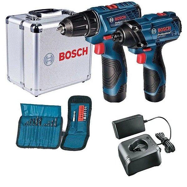 Kit Combo Furadeira/Parafusadeira GSR 120 Bosch