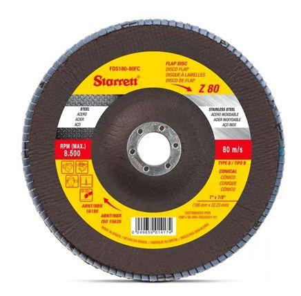 Starrett Disco Flap 180x22,23MM 7x7/8 GR 80