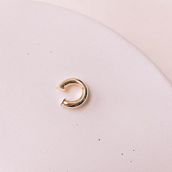 Piercing Fake Pequeno e Boleado Banhado em Ouro 18K