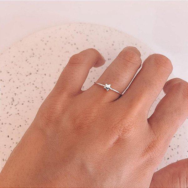 Anel de Prata Mini Estrela