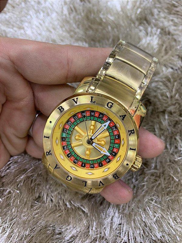 Bvlgari Casino - Dourado Com Fundo Dourado