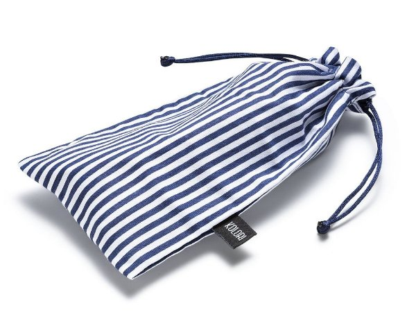 Capa para Óculos Listrado Azul