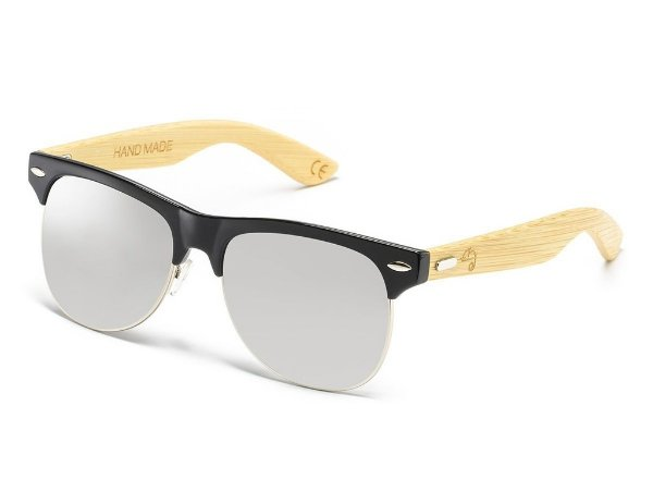 Clubmaster Bamboo Silver