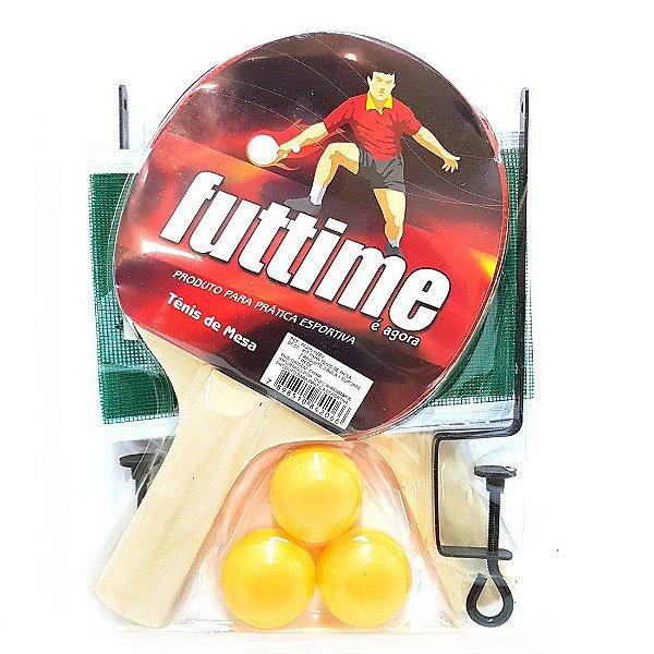 dd1078b84b Kit Tênis de Mesa AX Esportes com 2 Raquetes e 3 Bolas com Suporte e Rede