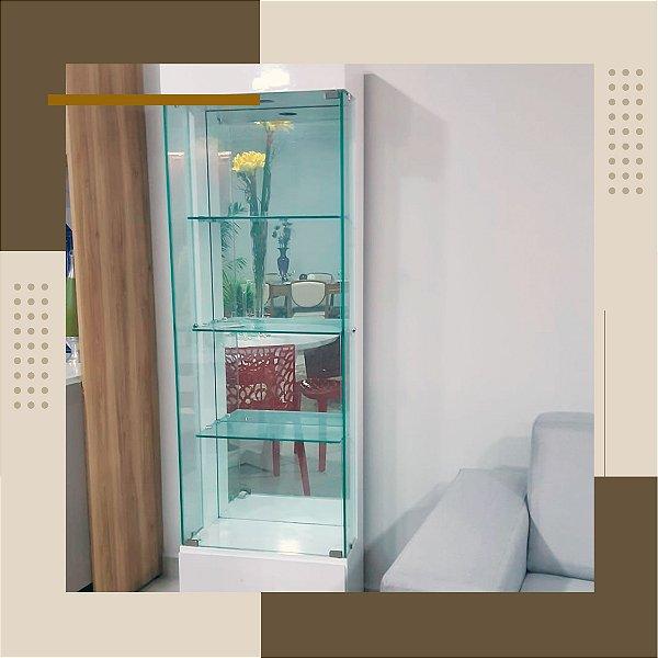 Cristaleira de Vidro Branca