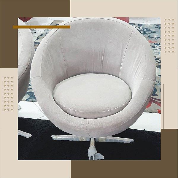 Poltrona Decorativa Cinza