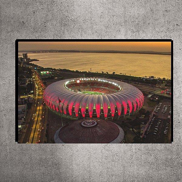 Quadro - Pequeno - Estádio Beira-Rio - Imagem aérea Por do Sol - 60cmx30xcm BRP3