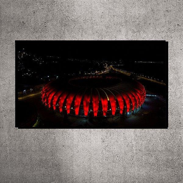 Quadro - Pequeno - Estádio Beira-Rio - Imagem aérea - 60cmx20xcm. BRP4