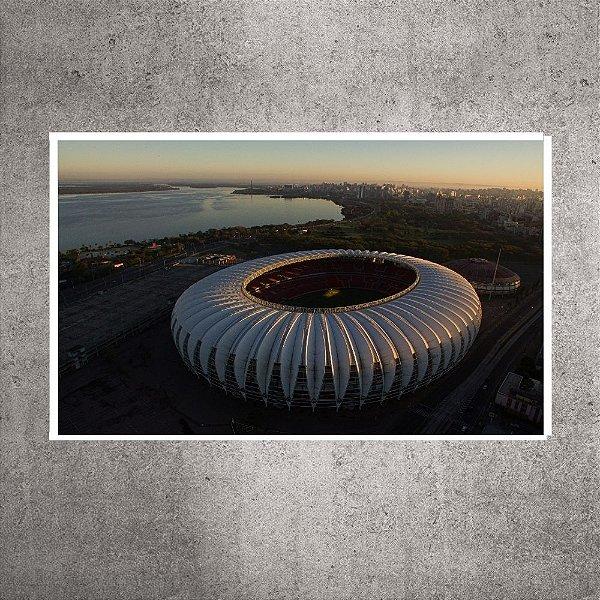 Imagem impressa - Pequena - Imagem Aérea - Estádio Beira-Rio - 60cmx24cm. BRIP5