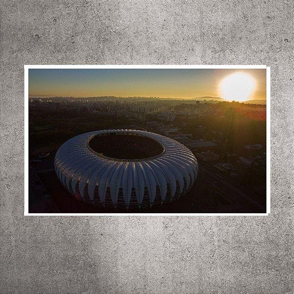 Quadro - Pequeno - Imagem Aérea Amanhecer - Estádio Beira-Rio - 60cmx30cm. BRP6