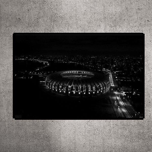 Quadro - Pequeno - Estádio Beira-Rio - Imagem aérea Preto e Branco - 60cmx30xcm. BRP9