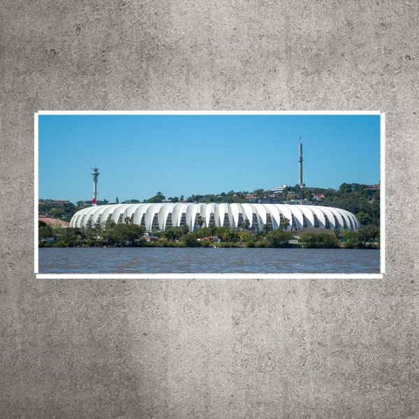 Quadro - Pequeno - Panorâmica Guaíba - Estádio Beira-Rio - 60cmx38cm. BRP10