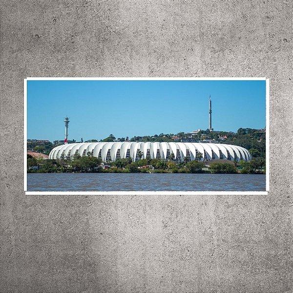 Imagem impressa - Pequena - Panorâmica Guaíba - Estádio Beira-Rio - 60cmx28cm. BRIP10