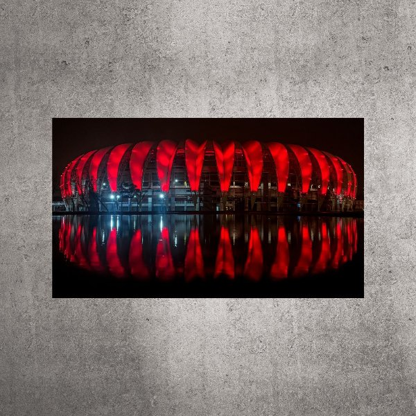 Imagem impressa - Panorâmica - Estádio Beira-Rio - 90cmx52cm. BRI1