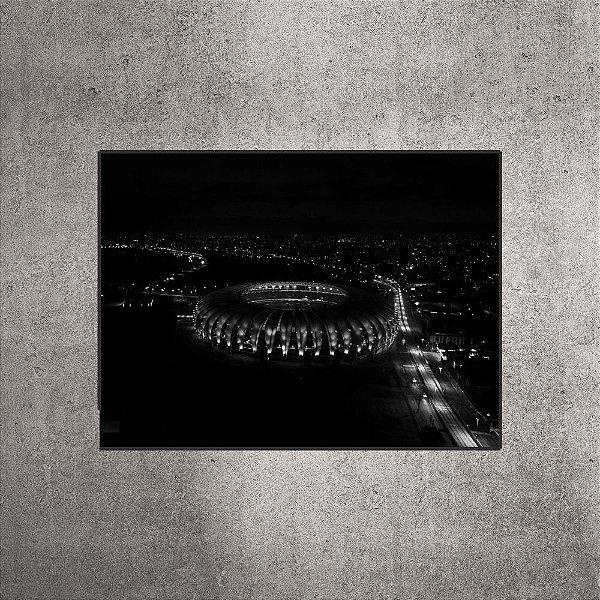 Quadro - Estádio Beira-Rio - Imagem aérea Preto e Branco - 90cmx60xcm. BR9