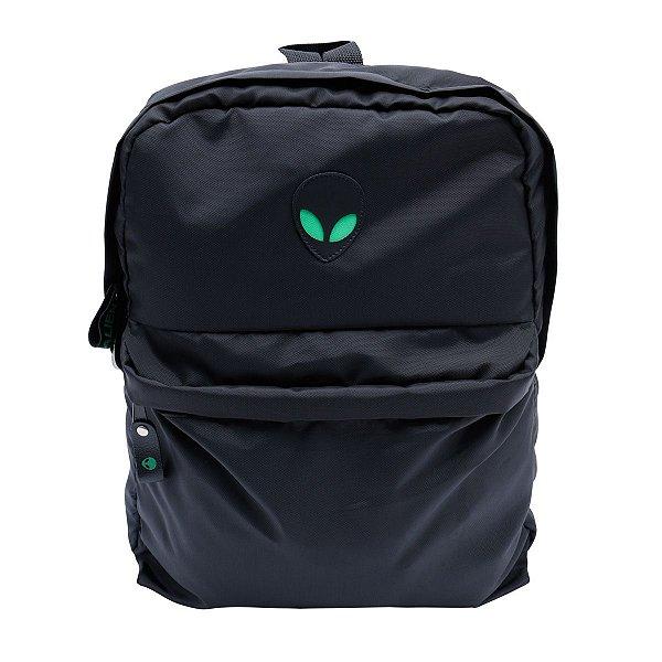 Mochila Alien black green com suporte para Notebook