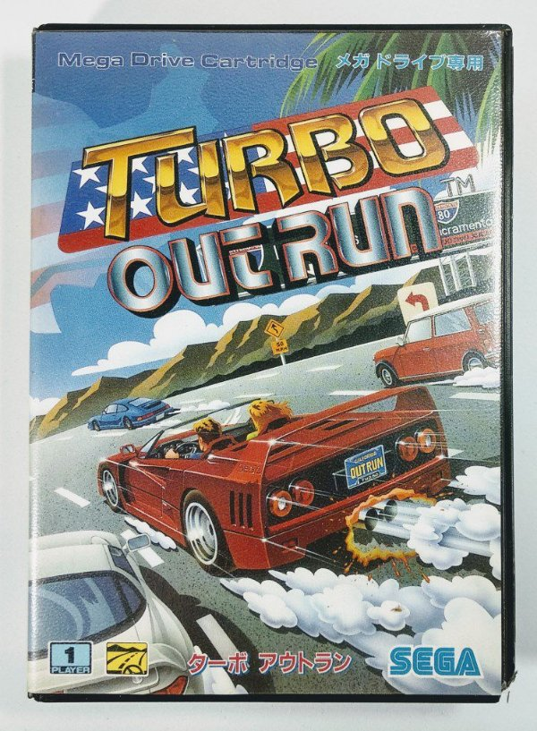 Jogo Turbo Outrun Original [JAPONÊS] - Mega Drive