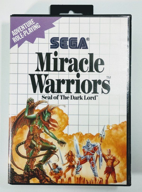 Jogo Miracle Warriors Seal of the Dark Lord - Master System