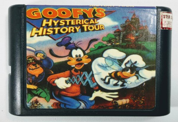 Jogo Goofys Hysterical History Tour - Mega Drive