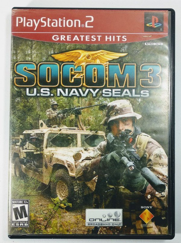 Jogo Socom 3 U.S Navy Seals Original - PS2