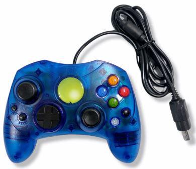 Controle azul translúcido - Xbox Clássico