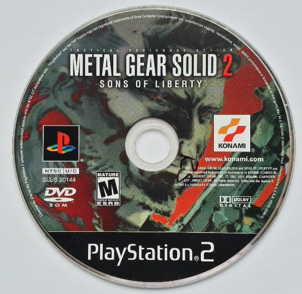 Metal Gear Solid 2 Sons of Liberty Original - PS2