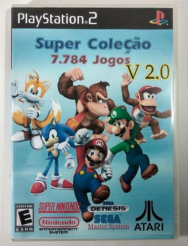 Super Coleção (SNES - MEGA DRIVE - ATARI e muito mais) - PS2