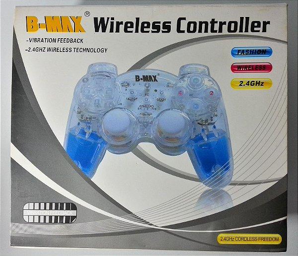Controle sem Fio B-MAX transparente LED Acqua - PS1/ PS2