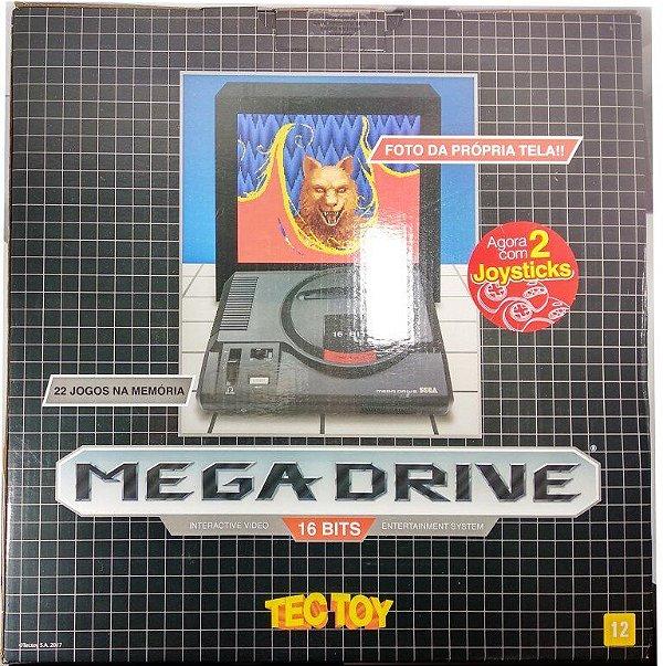 """Novo"" Mega Drive Tectoy (2 controles e 1300 jogos na memória)"