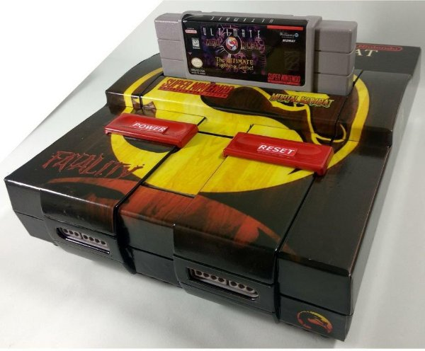 Super Nintendo Personalizado Mortal Kombat - SNES