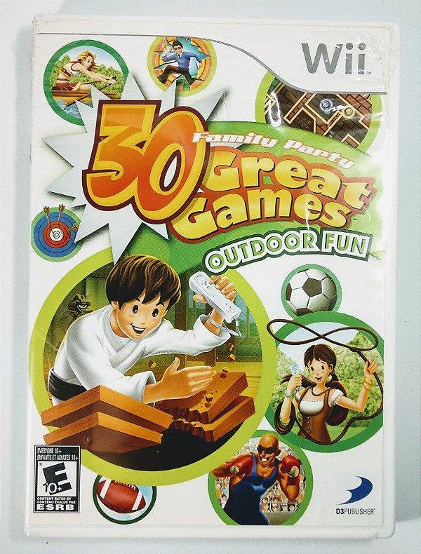 Jogo 30 Great Games Outdoor Fun - Wii