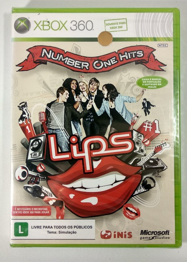 Lips Number One Hits (Lacrado) - Xbox 360