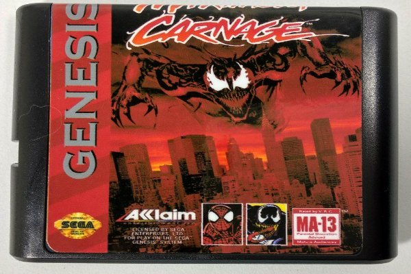 Jogo Spider-man and Venom Maximum Carnage - Mega Drive