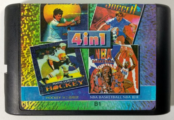 4 in 1 (Soccer - Basket - Tennis - Hockey) - Mega Drive