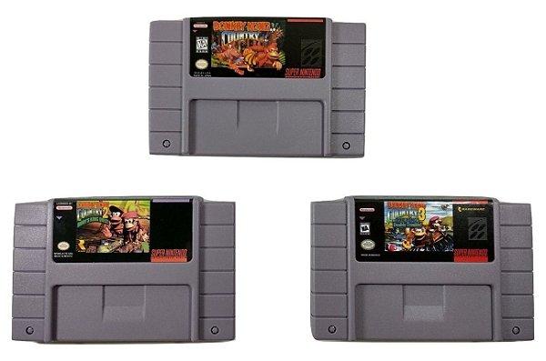Trilogia Donkey Kong (3 jogos) - SNES
