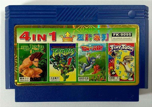 4 in 1 (Jungle book - Turtles - Tom e Jerry - Tiny Toon) - NES