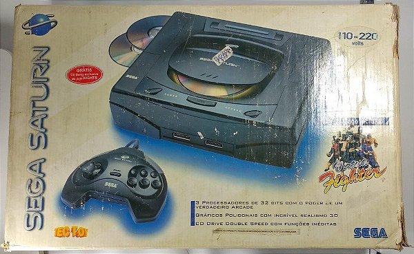 Sega Saturn Tectoy 110V na Caixa