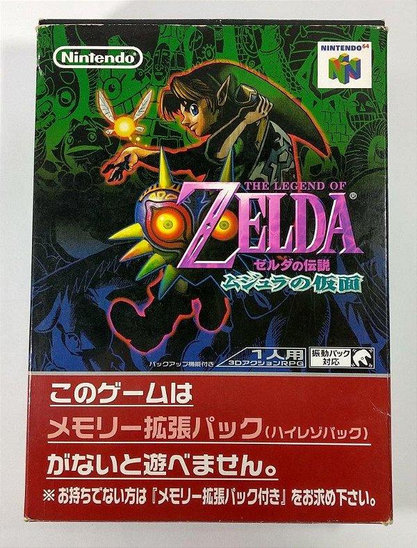 Caixa Vazia Zelda Majora Mask [Japonês] - N64