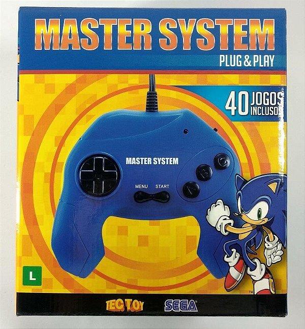 Console Master System Plug & Play (com 40 jogos na memória)