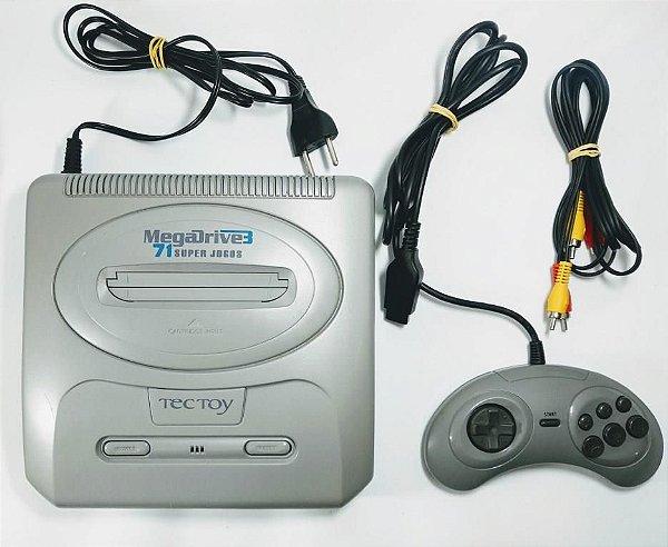 Console Super Mega Drive 3 (71 jogos na memória)