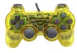 Controle transparente (Amarelo) - PS1 ONE/ PS2