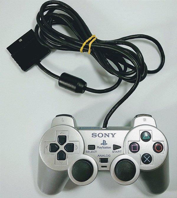 Controle Original Prata - PS2